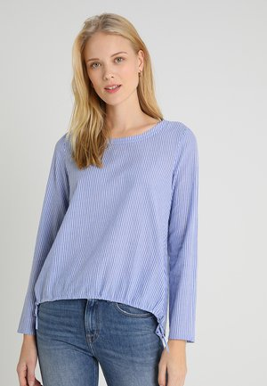 BLOUSE SPORTY FIT WITH ELASTIC - Blouse - blue