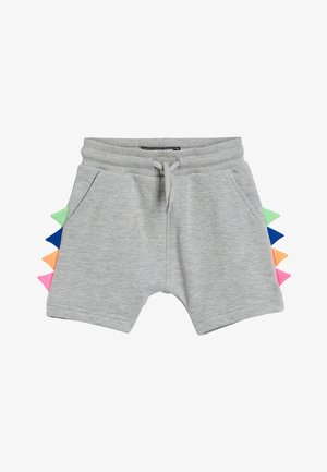 GREY MARL FLURO SPIKE SHORTS (3MTHS-7YRS) - Shorts - grey
