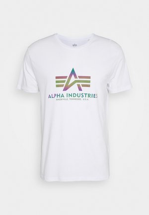 BASIC RAINBOW - Print T-shirt - white