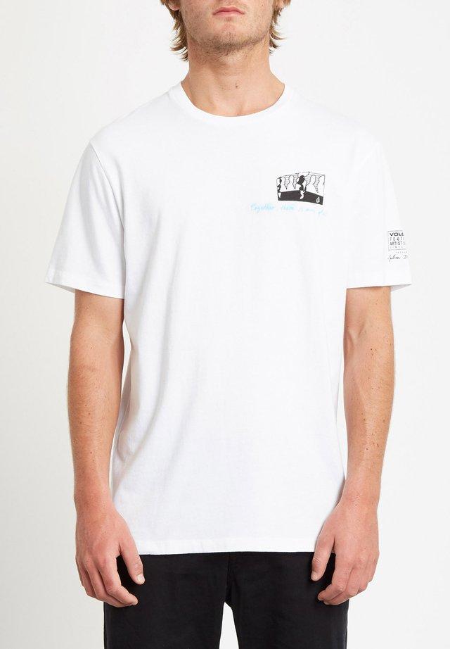 JULIEN DUPONT  - T-shirt con stampa - white