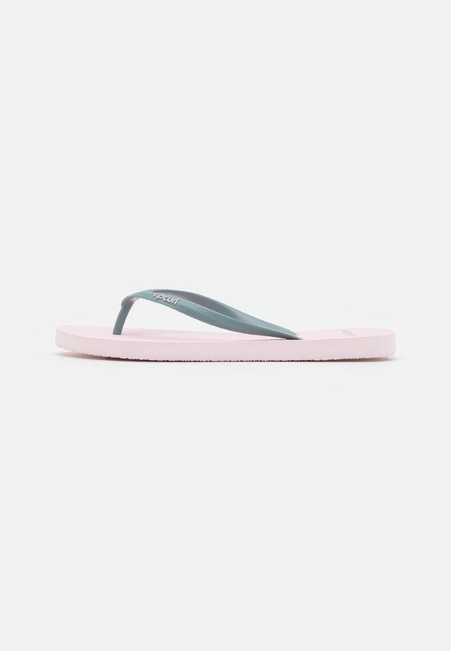 BONDI - T-bar sandals - blue/pink