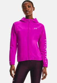 Under Armour - HOODED JACKET - Běžecká bunda - meteor pink - 0