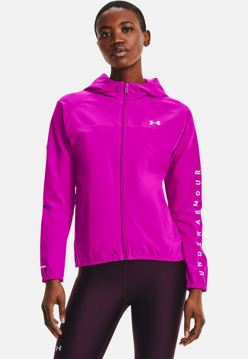 Under Armour - HOODED JACKET - Běžecká bunda - meteor pink