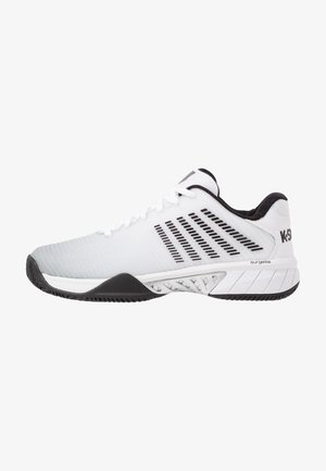 HYPERCOURT EXPRESS 2 HB - Clay court tennis shoes - white/high-rise/black