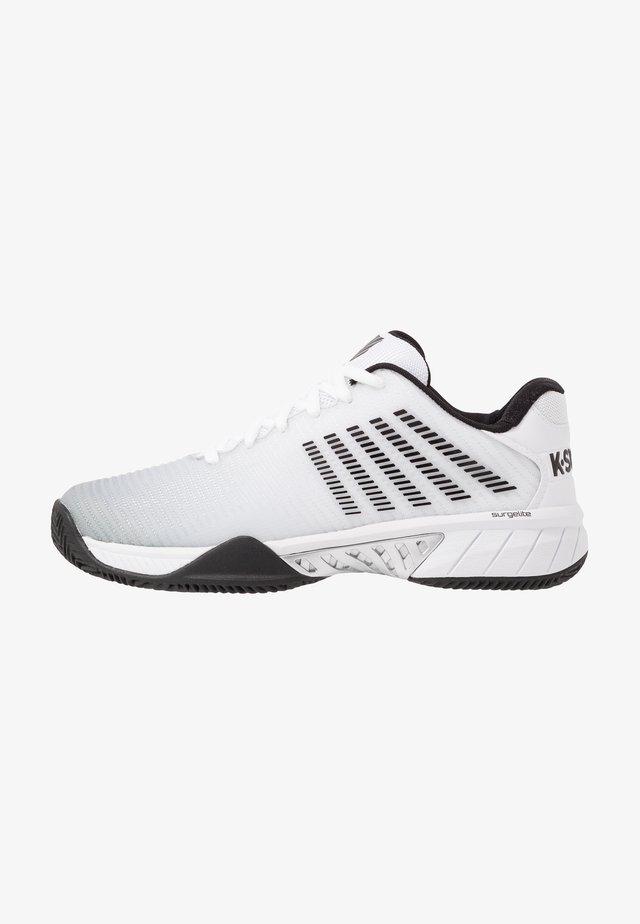 HYPERCOURT EXPRESS 2 HB - Chaussures de tennis pour terre-battueerre battue - white/high-rise/black