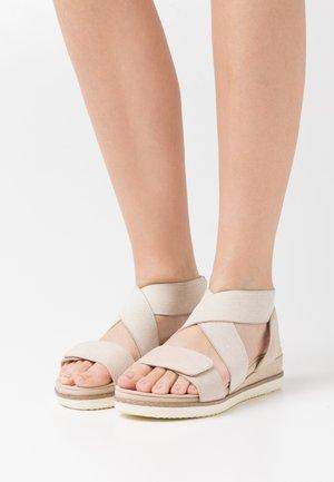 Platform sandals - ivory