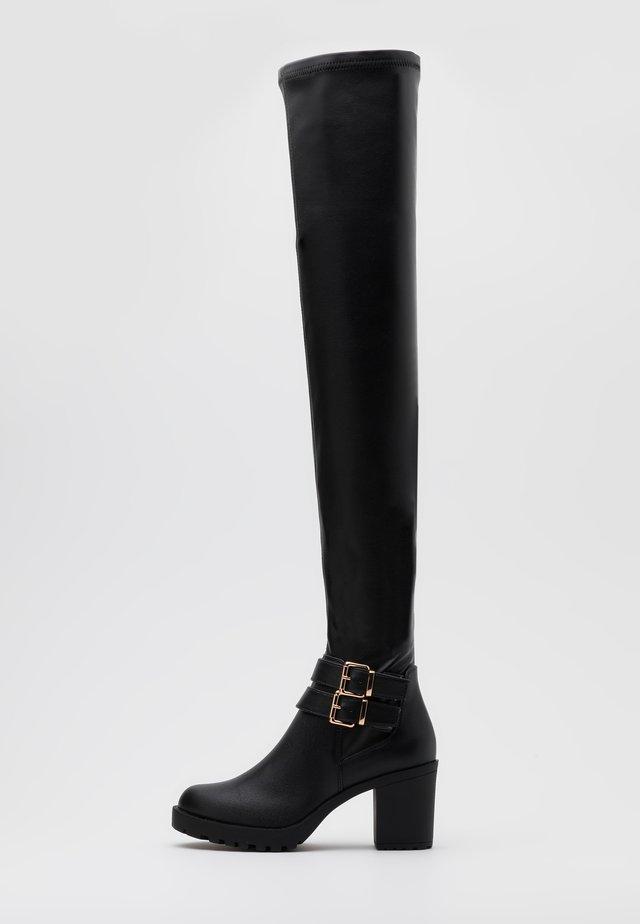 ONLBARBARA BUCKLED - Stivali sopra il ginocchio - black
