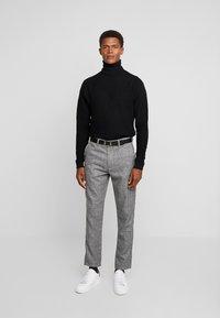 Solid - SLIM BARRO - Trousers - grey - 1