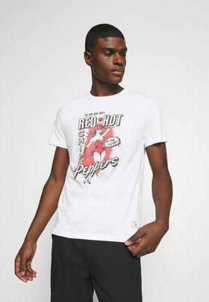 JPRBLARHCP TEE CREW NECK - Printtipaita - white