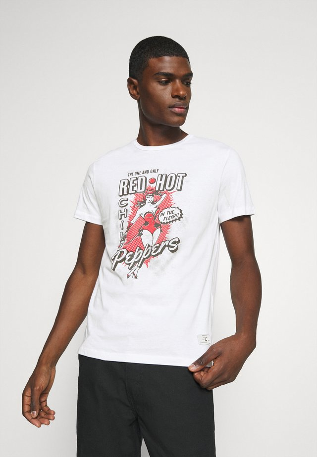 JPRBLARHCP TEE CREW NECK - T-shirts med print - white