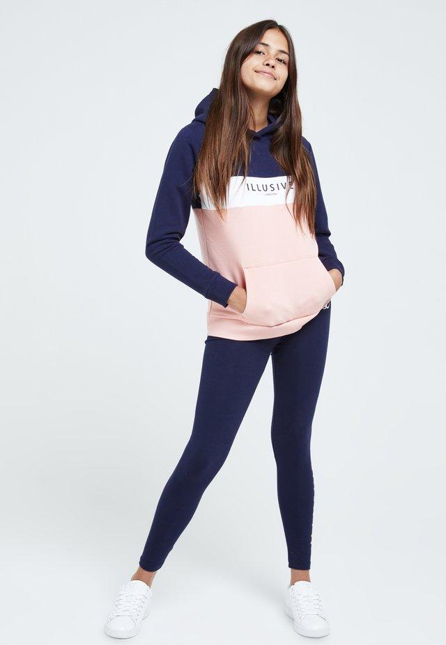 Sweat à capuche - navy & pink