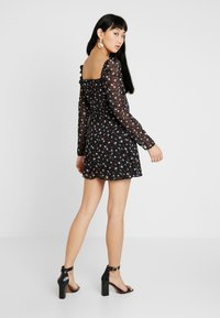 Missguided - FLORAL SQUARE NECK MINI DRESS - Cocktail dress / Party dress - black - 2