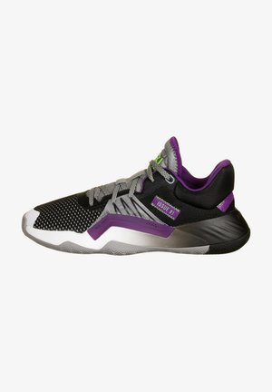 Zapatillas de baloncesto - grey three / core black / glow purple