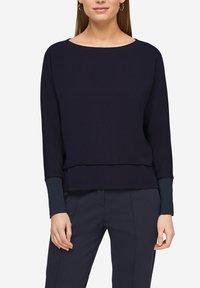 s.Oliver BLACK LABEL - T-shirt à manches longues - dark navy - 6