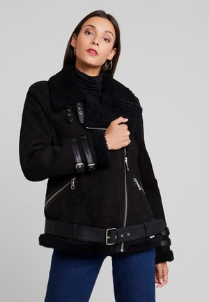 JEAN - Leather jacket - black