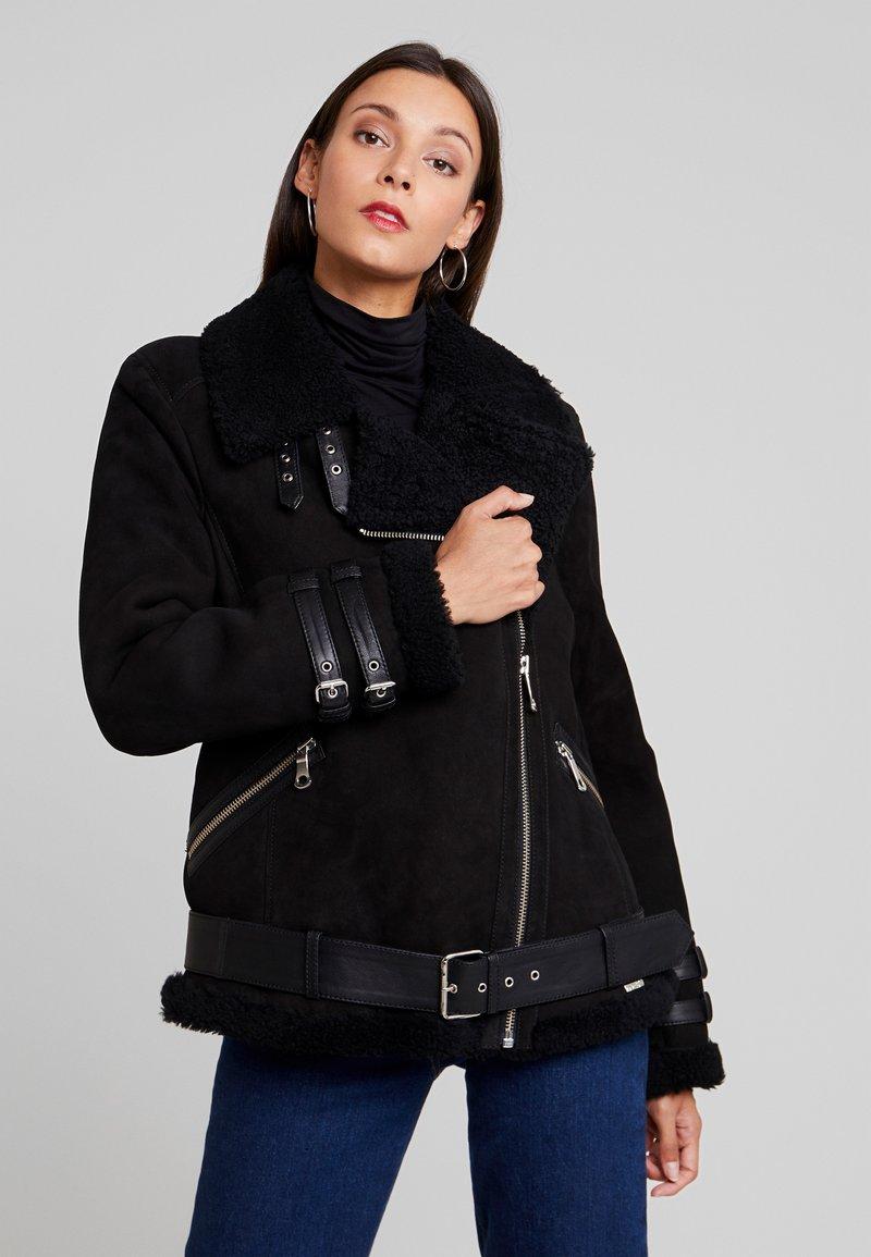 Maze - JEAN - Leather jacket - black