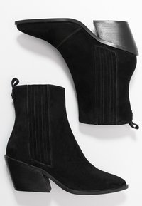KIOMI Wide Fit - Cowboy/biker ankle boot - black - 3