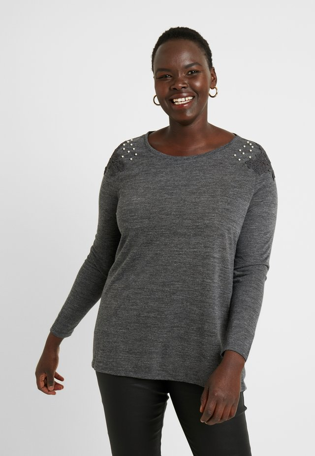 CARCAMER - Long sleeved top - dark grey