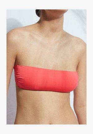 MIT WATTIERUNG INDONESIA ECO - Bikini top - - 414c - glossy red