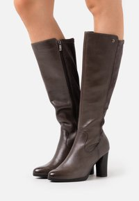 Caprice - BOOTS - High heeled boots - dark grey - 0