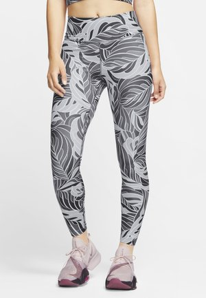 7/8 PSYCH  - Leggings - dark smoke grey/black