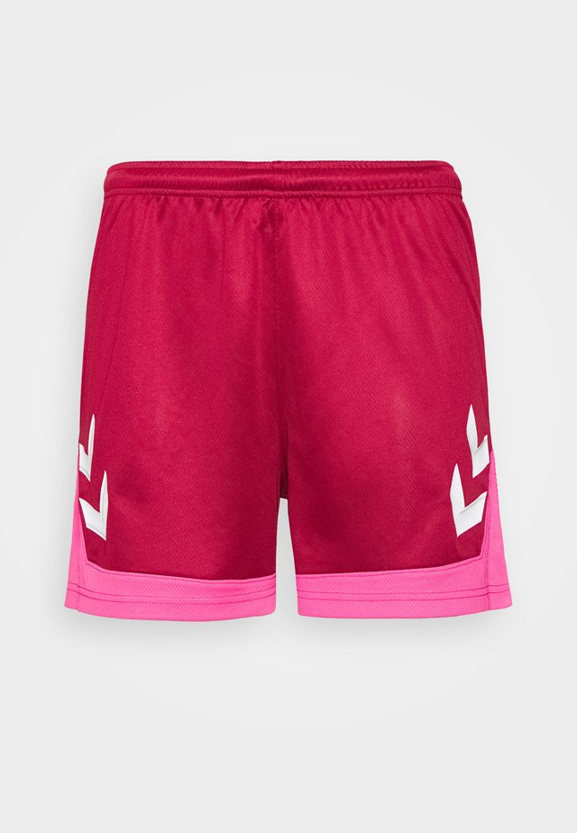 HMLLEAD WOMENS SHORTS - Urheilushortsit - biking red