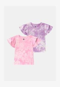 Cotton On - FLEUR FLUTTER SLEEVE 2 PACK - Print T-shirt - summer violet/cali pink - 0