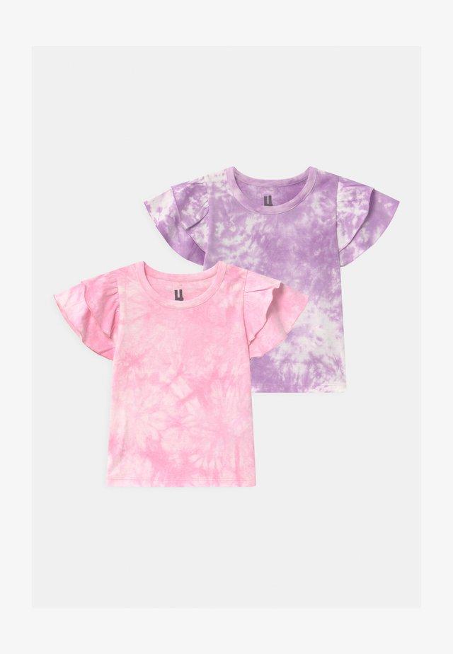 FLEUR FLUTTER SLEEVE 2 PACK - Triko spotiskem - summer violet/cali pink