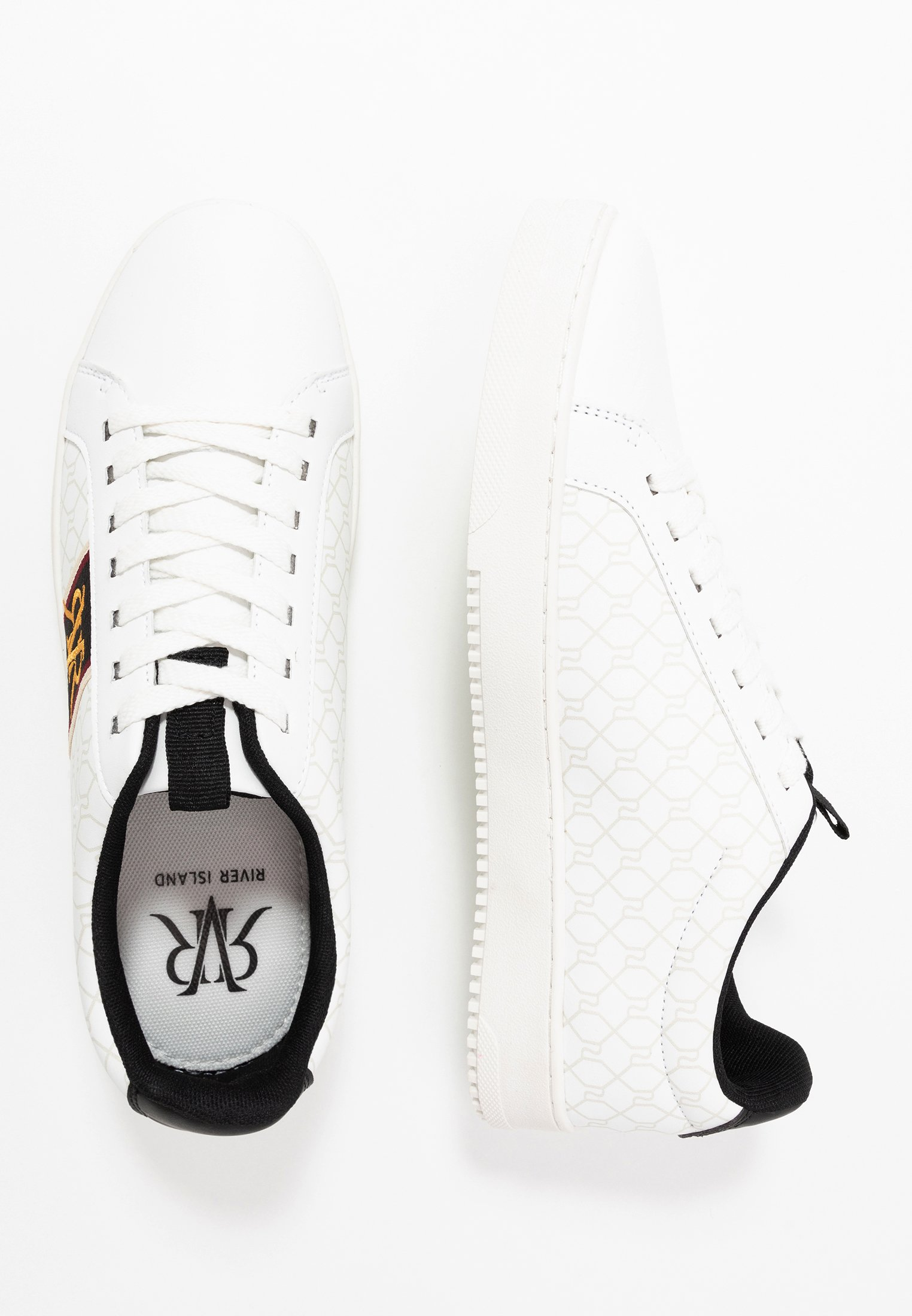 river island sneaker low white