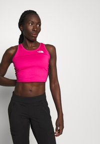 The North Face - WOMENS ACTIVE TRAIL TANKLETTE - Sports shirt - pink/black - 0