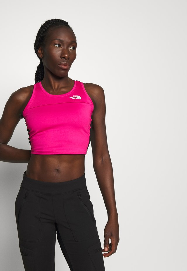 WOMENS ACTIVE TRAIL TANKLETTE - Sports shirt - pink/black