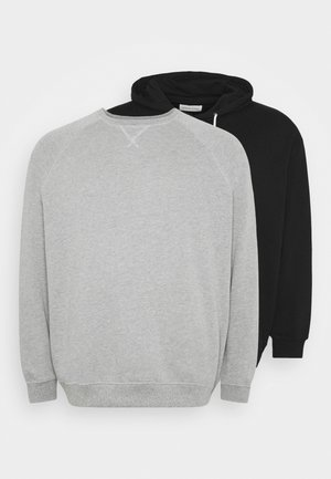 2 PACK - Mikina - black/mottled grey