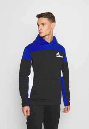 ZNE SPORTSWEAR RELAXED HOODED - Luvtröja - black/royal blue