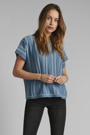 NUDAGAN DARLENE - Print T-shirt - blue shadow