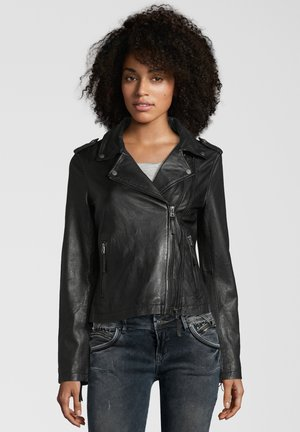 COOKIE - Leren jas - black