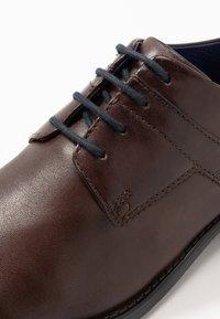 Bugatti - RINALDO ECO - Smart lace-ups - dark brown - 5