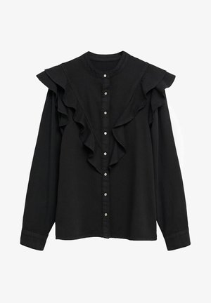 LUNA - Skjortebluser - black denim