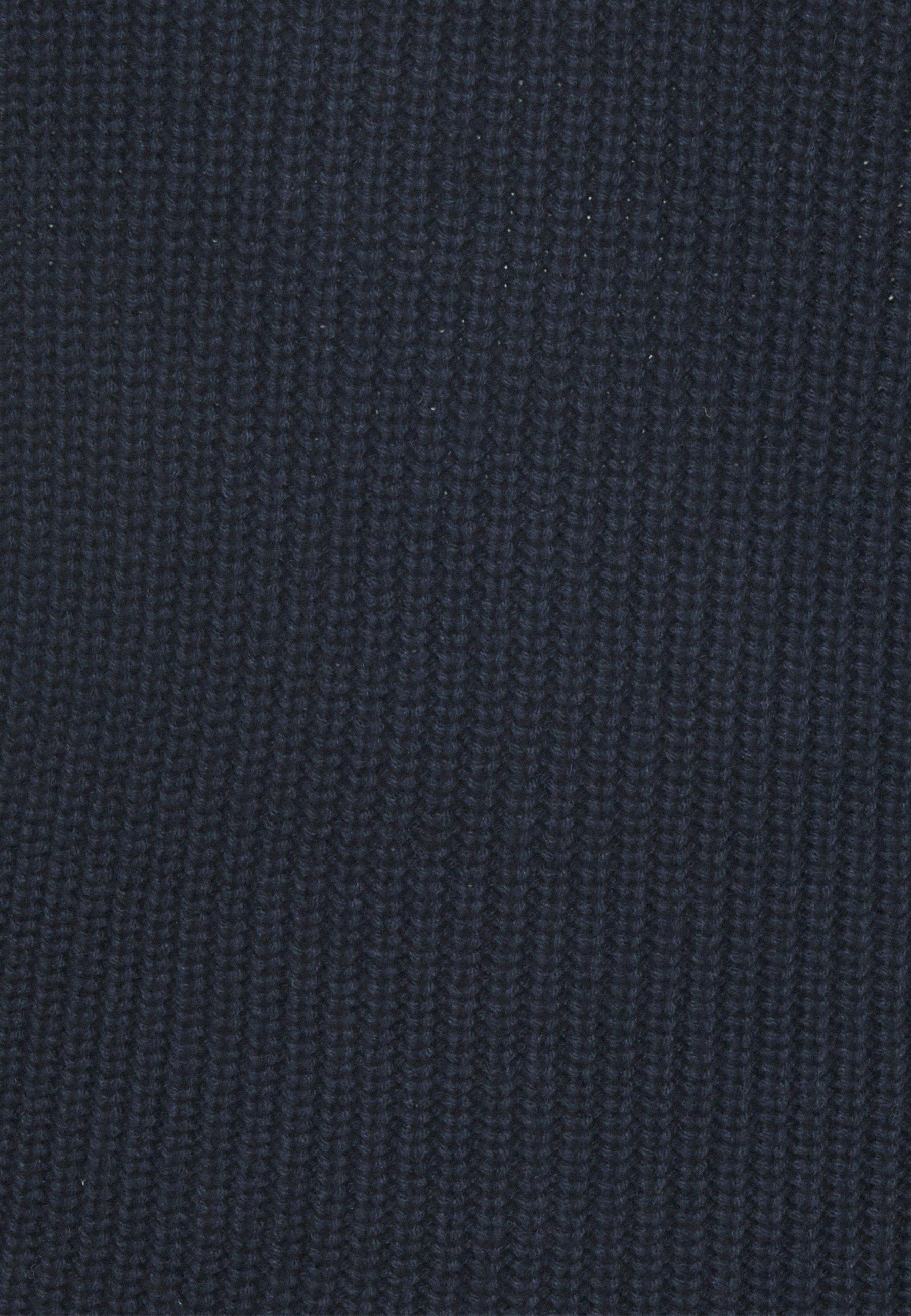 Tom Tailor Denim Structured Troyer - Strikkegenser Sky Captain Blue/mørkeblå