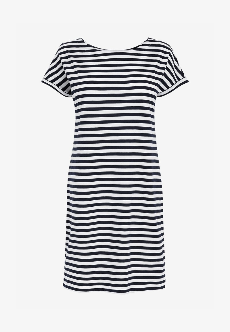 Next - MORRIS & CO. AT NEXT RELAXED CAPPED SLEEVE TUNIC DRESS - Jersey dress - white
