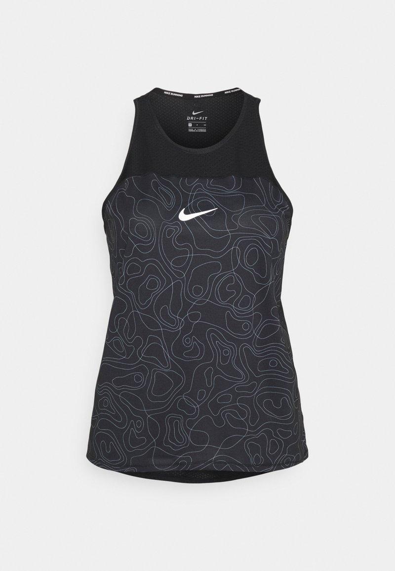 Nike Performance - RUN MILER TANK  - Top - black/reflective silver