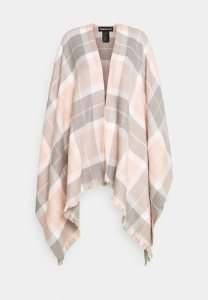 STAFFIN TARTAN SERAPE - Poncho - pink/grey