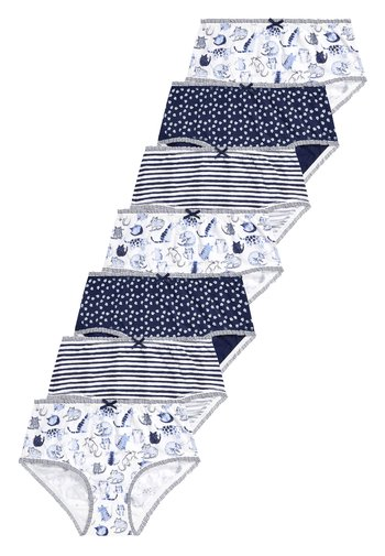 NAVY/WHITE 7 PACK CAT CHARACTER BRIEFS (1.5-12YRS)
