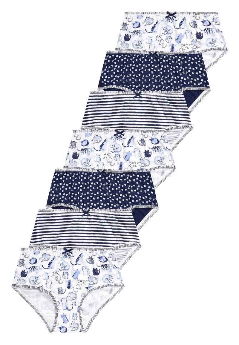 Next - NAVY/WHITE 7 PACK CAT CHARACTER BRIEFS (1.5-12YRS) - Briefs - blue
