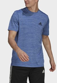adidas Performance - M HT EL TEE - T-shirt z nadrukiem - blue - 2