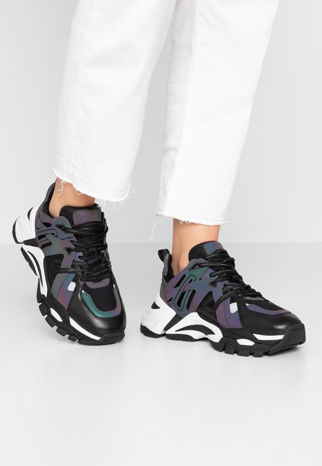 FLASH  - Sneakers - black/rainbow/ black silver