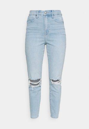 WAIST CROP - Slim fit jeans - blue