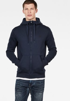 PREMIUM BASIC HOODED ZIP - veste en sweat zippée - sartho blue