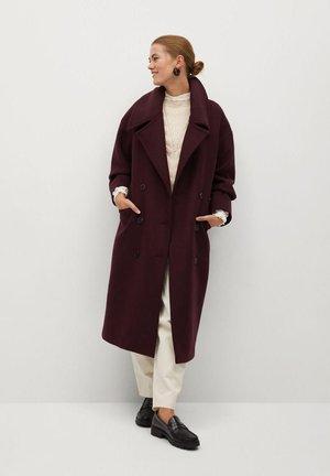 GRANADA - Płaszcz wełniany /Płaszcz klasyczny - maroon