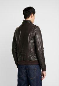 Serge Pariente - PILOT - Leather jacket - dark brown - 3