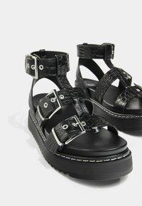 Bershka - Platform sandals - black - 6